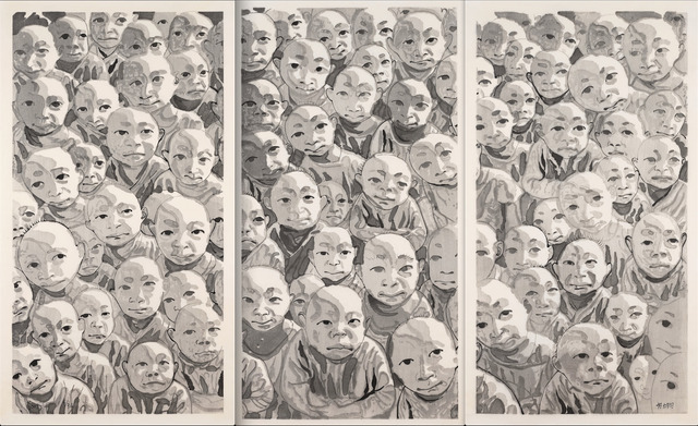 , 'Untitled (Crowd Triptych),' 2009, Ethan Cohen New York