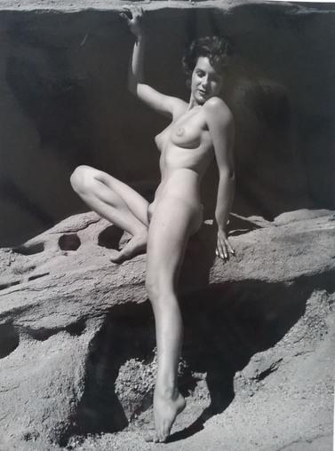 André de Dienes, 'Nu assise sur rocher', 1960, Kunzt Gallery