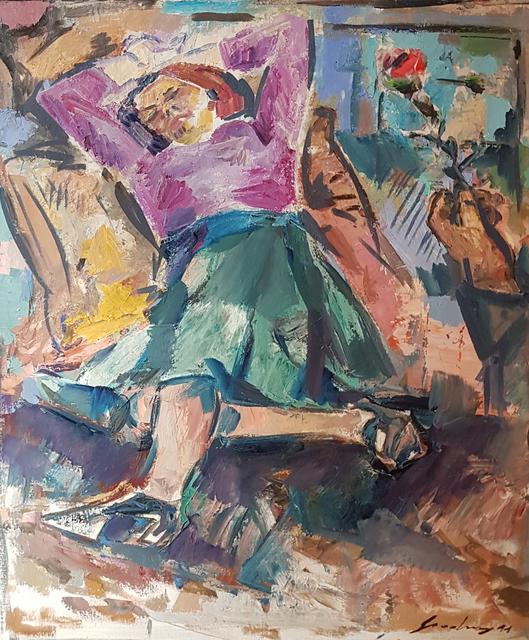 Ernst Gradischnig, 'Rote Rose (Red Rose)', 1991, Galerie Lehner