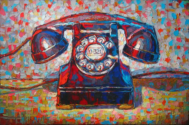 , 'Rotary Phone Black,' 2017, George Billis Gallery