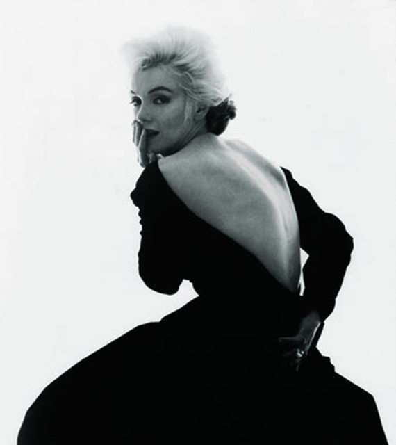 """, 'Marilyn Monroe: from """"The Last Sitting"""" (Black dress, looking over shoulder),' 1962, Staley-Wise Gallery"""