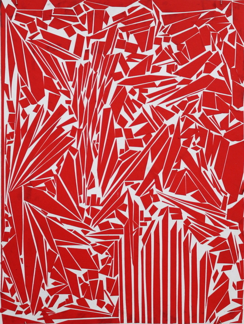 Ibrahim Abusitta, 'Red Tape', 2015, Robert Kananaj Gallery