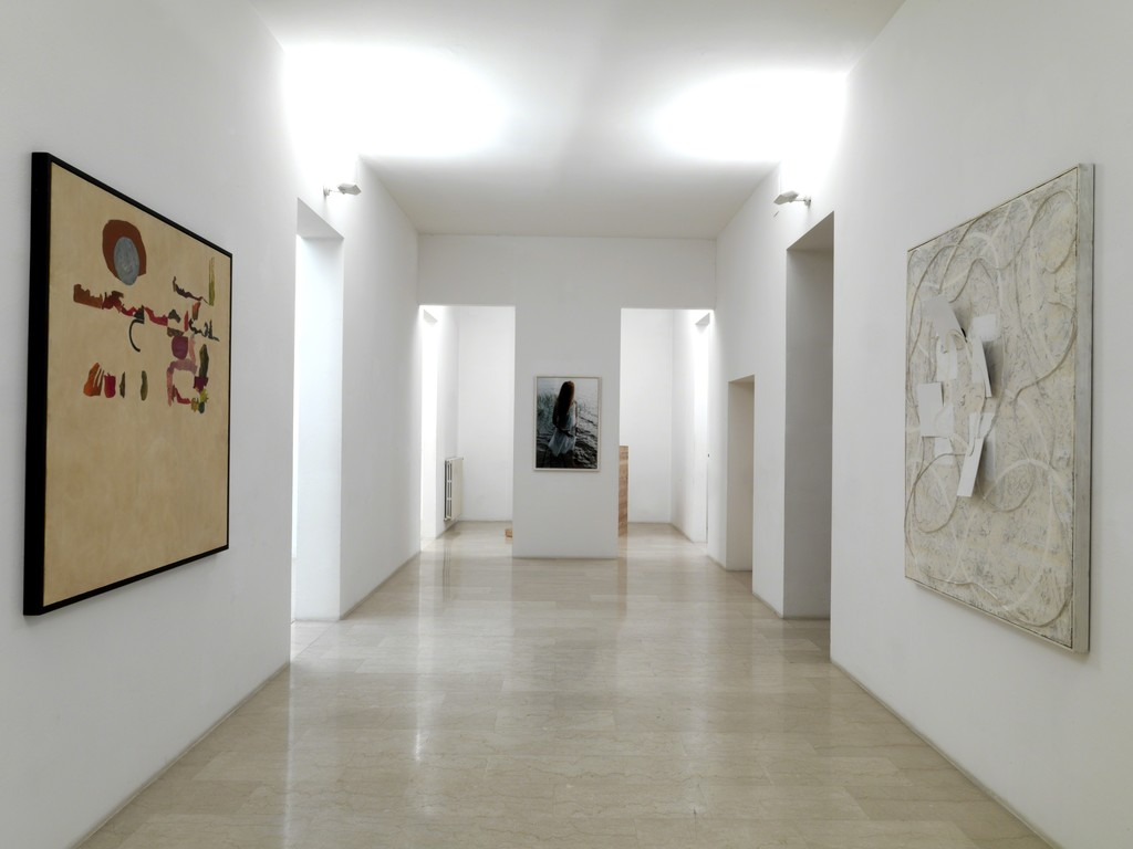 OTTO Gallery in Villa delle Rose, Gianni Dessì and Giuseppe Gallo's artworks
