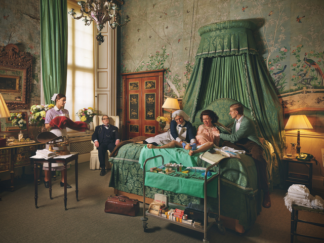 Natalie Lennard, 'Royal Blood - Staged Photograph of Queen Elizabeth Giving Birth in Buckingham Palace', 2018, Photography, Digital Print on Hahnemuhle Pearl Paper, Gallery 1202