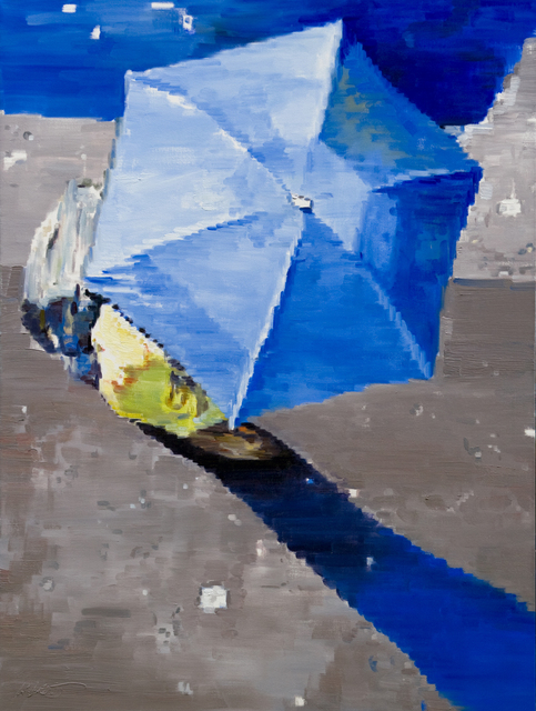 , 'Blue Umbrella in Paris Rain,' 2012, ViVO Contemporary
