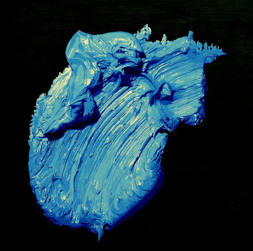 , 'One Blue Brush Stroke,' 2010, Galerie du Monde