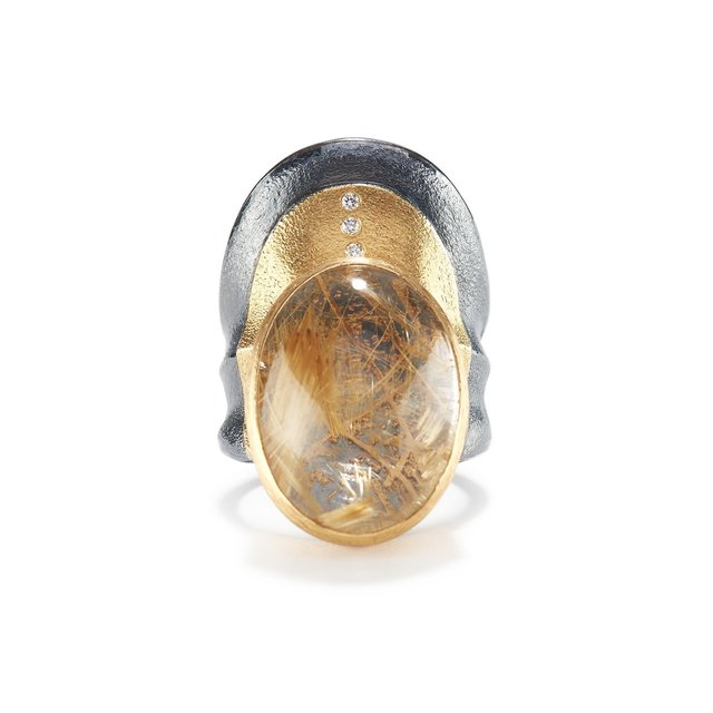 , 'Rutilated Quartz Ripple Ring,' ca. 2018, Patina Gallery