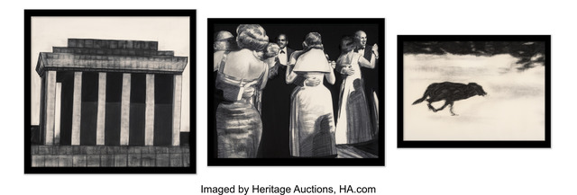 Robert Longo, 'Ho Chi Minh, Dancers, and Dog (triptych)', 1985, Heritage Auctions