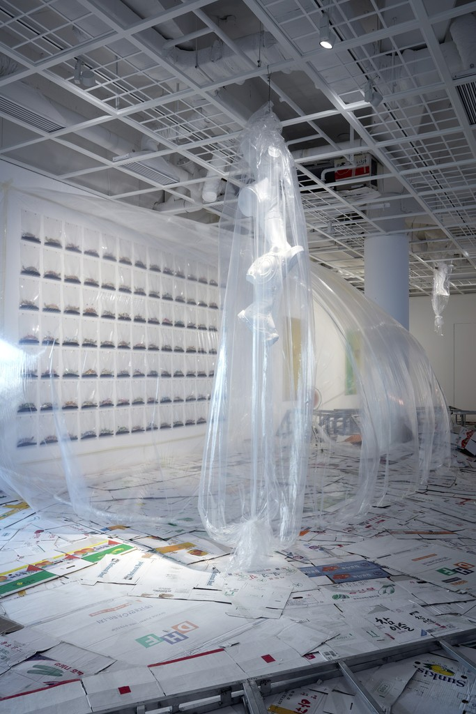 "Lee Bul, Majestic Splendor, 2016. Installation view of ""Connect 1: Still Acts"" at Art Sonje Center, 2016. Photo: Sang-tae Kim"
