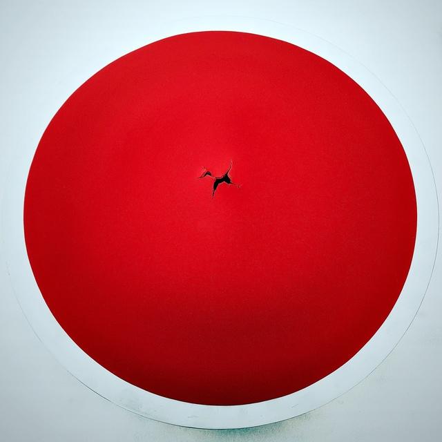 , 'A Red Round Sun,' 2018, Huue Contemporary