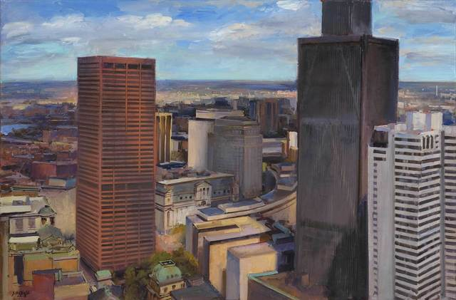 Joel Babb, 'Old City Hall and John Adams Courthouse, plein air', 2018, Vose Galleries