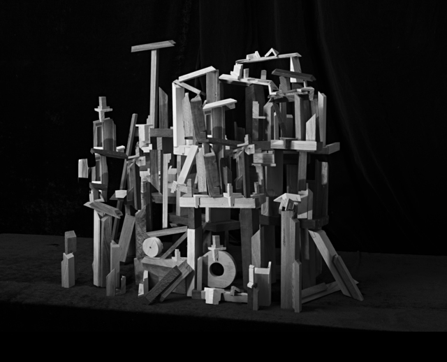 , 'Sculpture Study with Wooden Blocks,' 2015, The Ravestijn Gallery