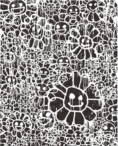 Takashi Murakami, ' Madsaki Flowers B Black', 2017, Dope! Gallery