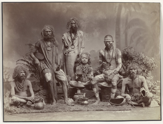 , 'Group of Yogis,' 1880, Asian Art Museum