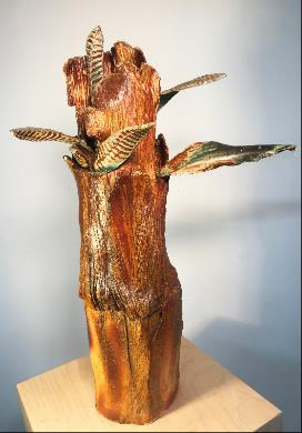 , 'Leaf Obelisk,' 2017, Denise Bibro Fine Art