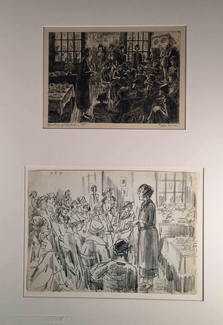 Peggy Bacon, ' SPEAKING OF CHILDREN and PTA FRIEND'S SEMINARY.', 1933, Edward T. Pollack Fine Arts
