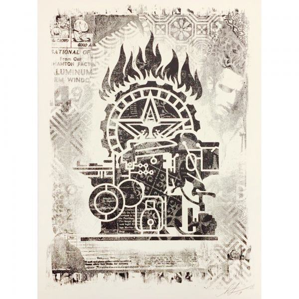 Shepard Fairey, 'Damaged Printing Press', 2019, AYNAC Gallery