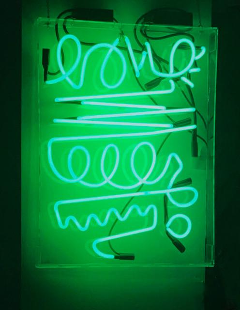 , 'Green Neon Scribble,' 2017, Chainlink Gallery