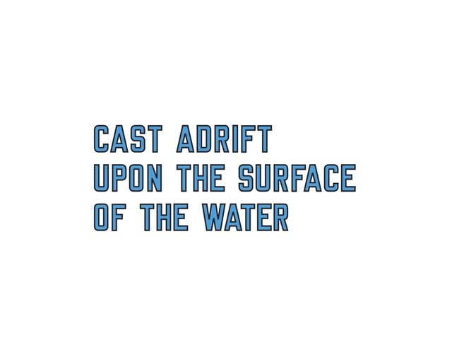 , 'CAST ADRIFT UPON THE SURFACE OF THE WATER (CAT. #1154),' 2018, Galerie Hubert Winter