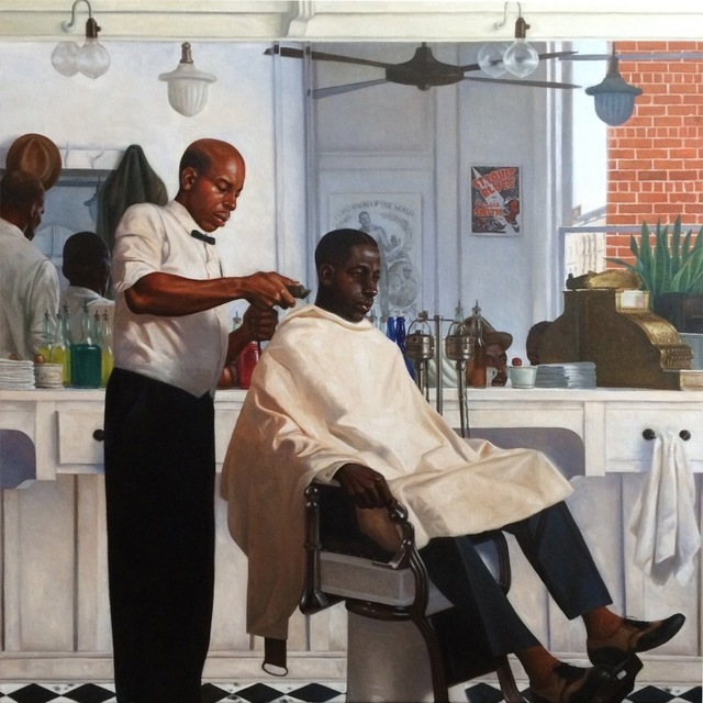 Kadir Nelson, 'Barbershop,' 2014, RJD Gallery