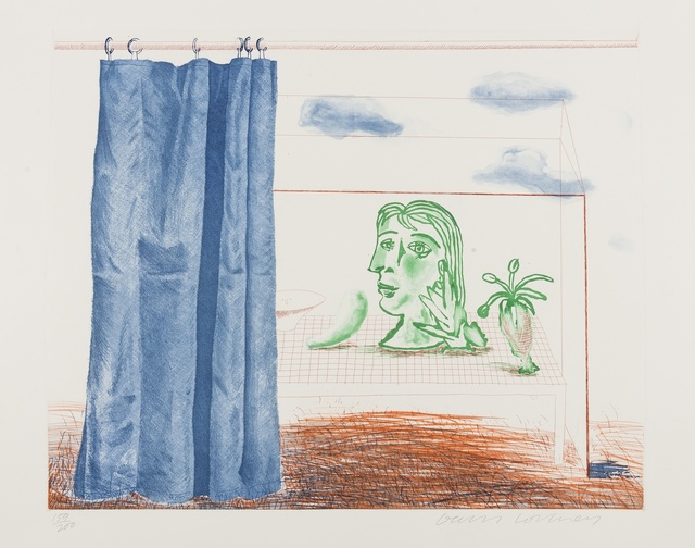 David Hockney, 'What is This Picasso? (from The Blue Guitar) (M.C.A. Tokyo 197)', 1976-77, Forum Auctions