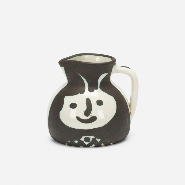 Pablo Picasso, 'Pichet tetes', 1956, Design/Decorative Art, White earthenware clay, oxidized paraffin decoration, white enamel, Rago/Wright
