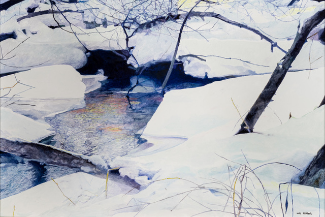 , 'Snow Covered River Bank,' , CK Contemporary