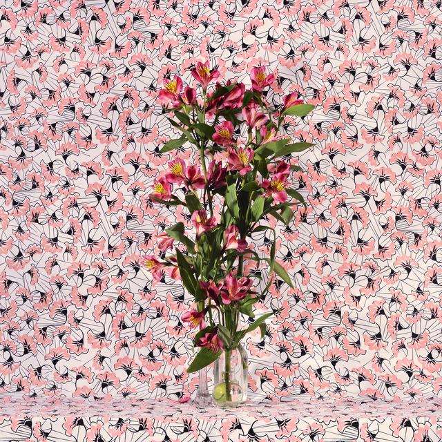 , 'Flowers and Fabric # 7 (Peach Fans),' 2016, Winston Wächter Fine Art
