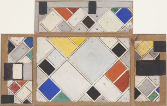 , 'Colour design for ceiling and three walls, small ballroom, conversion of Café Aubette interior Strasbourg,' 1926-1907, Whitechapel Gallery