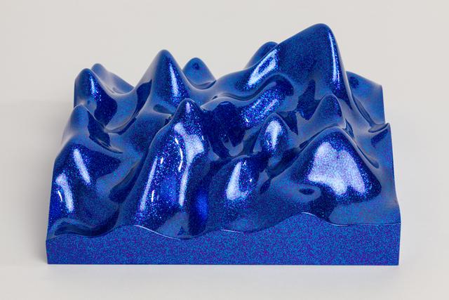 , 'Unknown Pleasure, Metal Flake 013118 blue indigo,' 2015, Paul Stolper Gallery