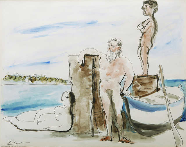 , 'Personnages sur la plage,' 1933, Acquavella Galleries