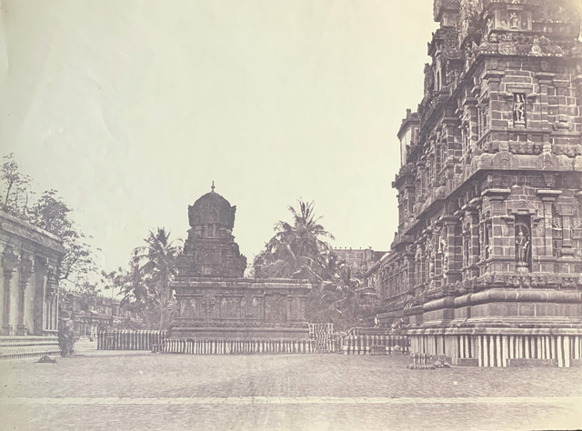 , 'Great Pagoda, Northern Side of the Great Central Tower and the Temple of the Goddess Parvati, (Brihadishvara Temple), Thanjavur.,' ca. 1858, Roland Belgrave Vintage Photography Ltd