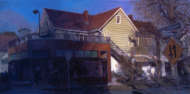 Raymond Bonilla, 'Pennsylvania Ave', 2020, Painting, Oil on Panel, Abend Gallery