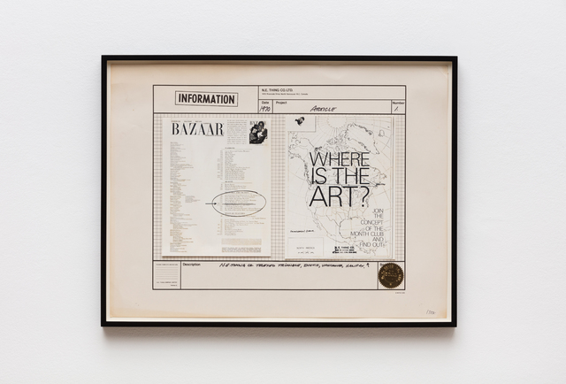 Iain Baxter&, 'Article', 1970, Hales Gallery