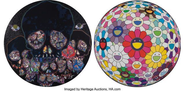 Takashi Murakami, 'The Moon Over The Ruined Castle and Flower Ball Open your Hands Wide', c. 2014, Heritage Auctions