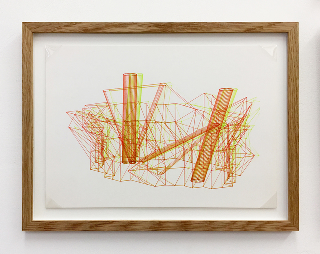 , 'Anaglyph 3D drawing No.5,' 1988, Betts Project
