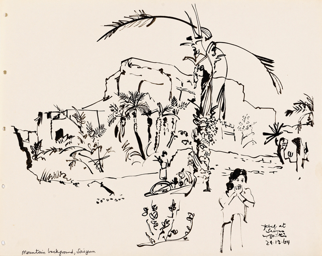 Walter Battiss, 'Hadhramaut, Portfolio of 41 Ink Drawings', Drawing, Collage or other Work on Paper, Ink on paper secured between cardboard covers, Strauss & Co