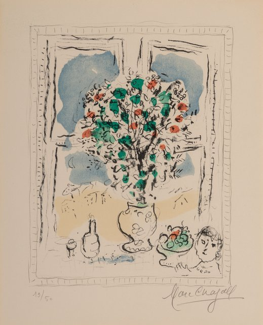 Marc Chagall, 'Nature morte aux fleurs', 1978, Print, Lithograph in colors on wove paper, Heritage Auctions