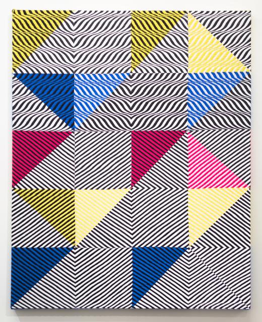 Samantha Bittman, 'Untitled', 2017, Painting, Acrylic on hand woven textile, Morgan Lehman Gallery