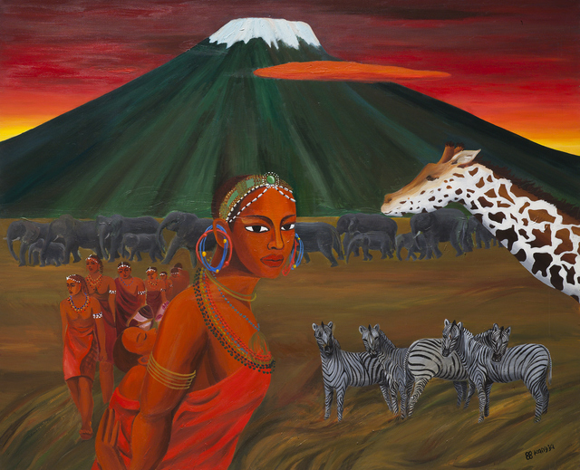 , 'The Maasai and Kilimanjaro,' 1988, Arario Gallery