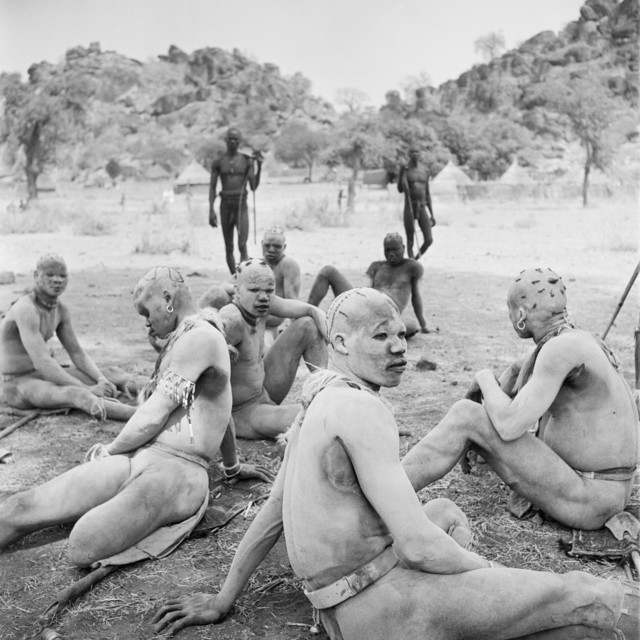 , 'Wrestlers of the Kao-Nyaro resting in shade. Kordofan, Southern Sudan,' 1949, David Hill Gallery