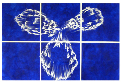 , 'Blue Implosion Cloud Grid,' 2008, Simon Lee Gallery