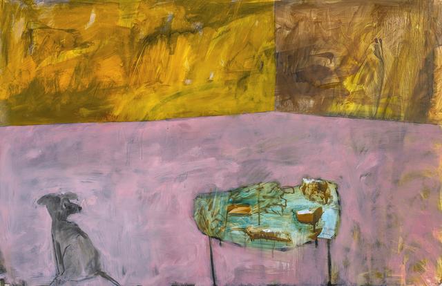 Mary Vernon, 'Green Table with Cake', 2018, Valley House Gallery & Sculpture Garden