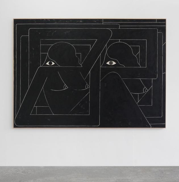 , 'Un Esto Unidos (2 Figures. Black),' 2016, V1 Gallery