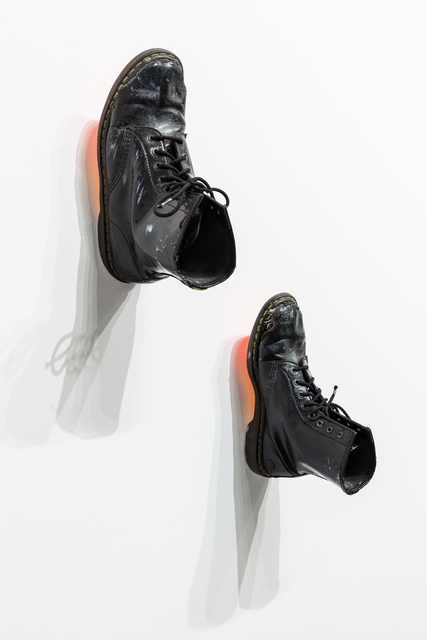 , 'Light Orange/Red_Black Docs (pair),' 2017, Ki Smith Gallery
