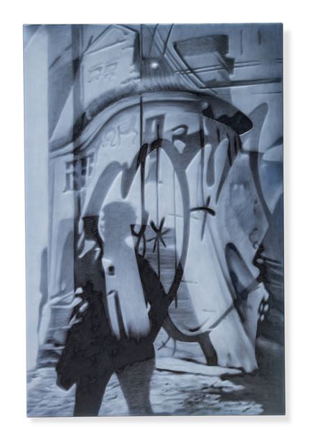 April Surgent, '… a feeble light glimmered…cautious grey thoughts…', 2020, Sculpture, Cameo engraved glass, Heller Gallery