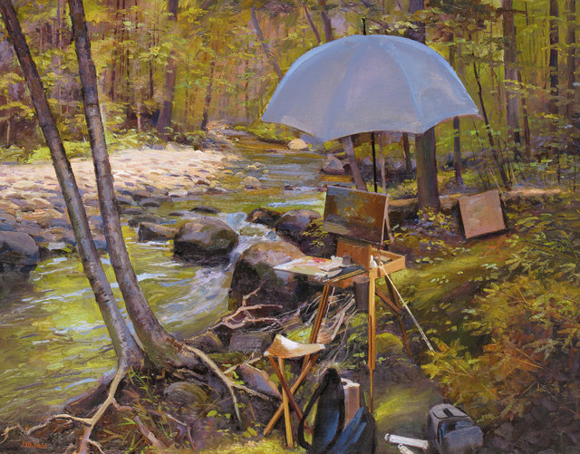 Joel Babb, 'Easel at Wight Brook, Grafton Notch, Maine', 2012, Vose Galleries