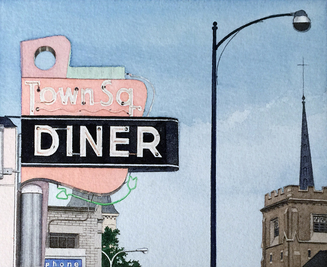, 'Town Square Diner,' 1975, Jonathan Novak Contemporary Art
