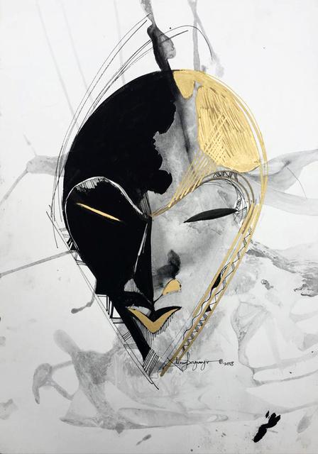 , 'Dan Mask #3,' 2018, TAFETA