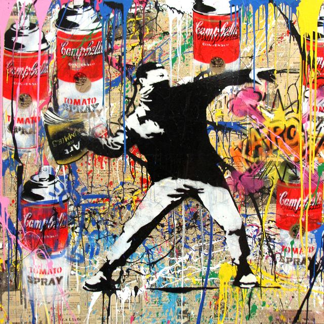 , 'Banksy Thrower,' 2014, Kapopoulos Fine Arts